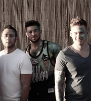 Blue Go Mad In Ibiza. Image shows from L to R: Antony Costa, Duncan James, Lee Ryan. Copyright: Potato.