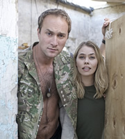 Bluestone 42. Image shows from L to R: Nick (Oliver Chris), Astrid (Birgitte Hjort Sørensen). Copyright: BBC.