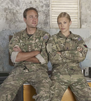 Bluestone 42. Image shows from L to R: Nick (Oliver Chris), Mary (Kelly Adams). Copyright: BBC.