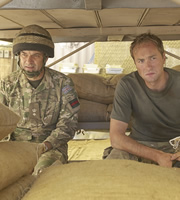 Bluestone 42. Image shows from L to R: Lt Col Smith (Tony Gardner), Nick (Oliver Chris). Copyright: BBC.