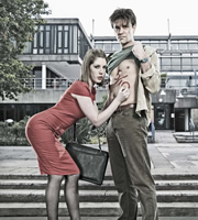 Campus. Image shows from L to R: Georgina 'George' Bryan (Katherine Ryan), Matt Beer (Joseph Millson). Copyright: Monicker Pictures.