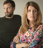 Catastrophe. Image shows from L to R: Fergal (Jonathan Forbes), Sharon (Sharon Horgan). Copyright: Avalon Television.