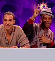 Celebrity Juice. Image shows from L to R: Marvin Humes, Oritsé Williams. Copyright: Talkback / TalkbackThames.