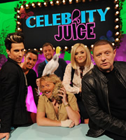 Celebrity Juice. Image shows from L to R: Russell Kane, Gino D'Acampo, Rufus Hound, Leigh Francis, Fearne Cotton, Shaun Ryder. Copyright: Talkback / TalkbackThames.