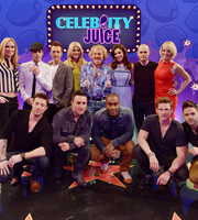 Celebrity Juice. Image shows from L to R: Jessica Taylor, Richard Breen, Duncan James, Ritchie Neville, Holly Willoughby, Antony Costa, Leigh Francis, Simon Webbe, Kelly Brook, Sean Conlon, Lee Ryan, Liz McClarnon, Scott Robinson. Copyright: Talkback / TalkbackThames.
