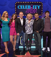 Celebrity Juice. Image shows from L to R: Catherine Tyldesley, Brooke Vincent, Antony Cotton, Leigh Francis, Nitin Ganatra, Tony Discipline. Copyright: Talkback / TalkbackThames.
