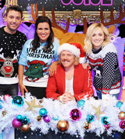 Celebrity Juice. Image shows from L to R: Gino D'Acampo, Susanna Reid, Leigh Francis, Fearne Cotton. Copyright: Talkback / TalkbackThames.