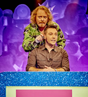 Celebrity Juice. Image shows from L to R: Leigh Francis, Gino D'Acampo. Copyright: Talkback / TalkbackThames.