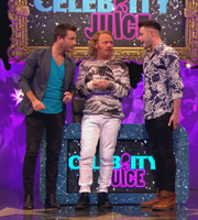 Celebrity Juice. Image shows from L to R: Gino D'Acampo, Leigh Francis, Dave Berry. Copyright: Talkback / TalkbackThames.