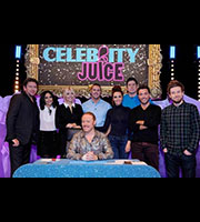 Celebrity Juice. Image shows from L to R: James Martin, Frankie Bridge, Holly Willoughby, Leigh Francis, Paddy McGuinness, Jennifer Metcalfe, Vernon Kay, Gino D'Acampo, Chris Ramsey. Copyright: Talkback / TalkbackThames.