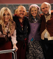 Celebrity Juice. Image shows from L to R: Fearne Cotton, Leigh Francis, Holly Willoughby, Rufus Hound. Copyright: Talkback / TalkbackThames.