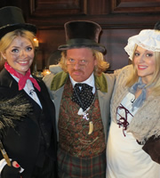Celebrity Juice. Image shows from L to R: Holly Willoughby, Leigh Francis, Fearne Cotton. Copyright: Talkback / TalkbackThames.