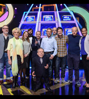 Celebrity Squares. Image shows from L to R: Vic Reeves, Sherrie Hewson, Jessica Hynes, Joe Wilkinson, Bob Mortimer, Warwick Davis, Carl Fogarty, Tim Vine, Chris Ramsey, Marek Larwood, Rachel Yankey. Copyright: September Films / GroupM Entertainment.