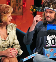 Alan Carr: Chatty Man. Image shows from L to R: Cilla Black, Justin Lee Collins. Copyright: Open Mike Productions.