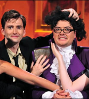 Alan Carr: Chatty Man. Image shows from L to R: David Tennant, Alan Carr. Copyright: Open Mike Productions.