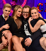 Alan Carr: Chatty Man. Image shows from L to R: Kate Upton, Cameron Diaz, Alan Carr, Leslie Mann. Copyright: Open Mike Productions.