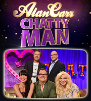 Alan Carr: Chatty Man. Image shows from L to R: Lily Allen, John Torode, Alan Carr, Gregg Wallace, Courtney Love. Copyright: Open Mike Productions.