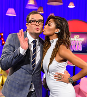 Alan Carr: Chatty Man. Image shows from L to R: Alan Carr, Nicole Scherzinger. Copyright: Open Mike Productions.