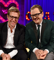 Alan Carr: Chatty Man. Image shows from L to R: Hugh Grant, Alan Carr. Copyright: Open Mike Productions.