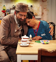 Citizen Khan. Image shows from L to R: Mr Khan (Adil Ray), Mrs Khan (Shobu Kapoor). Image credit: British Broadcasting Corporation.