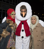 Citizen Khan. Image shows from L to R: Alia (Bhavna Limbachia), Mr Khan (Adil Ray), Naani (Adlyn Ross). Copyright: BBC.