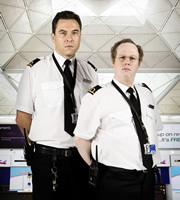 Officer Roberts and Officer Stewart. Image shows from L to R: David Walliams, Matt Lucas. Copyright: Little Britain Productions / BBC.