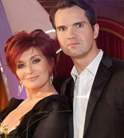 A Comedy Roast. Image shows from L to R: Sharon Osbourne, Jimmy Carr. Copyright: Monkey Kingdom.