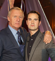 A Comedy Roast. Image shows from L to R: Chris Tarrant, Jimmy Carr. Copyright: Monkey Kingdom.