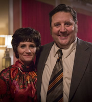 Cradle To Grave. Image shows from L to R: Bet Baker (Lucy Speed), Fred 'Spud' Baker (Peter Kay). Copyright: ITV Studios.
