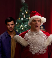 Cuckoo. Image shows from L to R: Dale (Taylor Lautner), Ken (Greg Davies). Image credit: Roughcut Television.