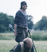 Detectorists. Image shows from L to R: Andy Stone (Mackenzie Crook), Lance Stater (Toby Jones). Image credit: Channel X.