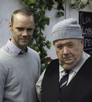 Doc Martin. Image shows from L to R: Al Large (Joe Absolom), Bert Large (Ian McNeice). Copyright: Buffalo Pictures / Homerun Productions.