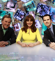 Duck Quacks Don't Echo. Image shows from L to R: Terry Wogan, Carol Vorderman, Jimmy Carr. Copyright: Magnum Media.