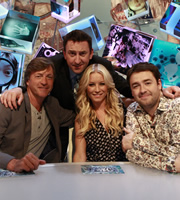 Duck Quacks Don't Echo. Image shows from L to R: Richard Madeley, Lee Mack, Denise Van Outen, Jason Manford. Copyright: Magnum Media.