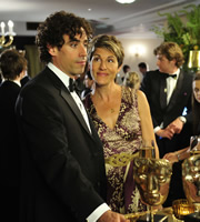 Episodes. Image shows from L to R: Sean Lincoln (Stephen Mangan), Beverly Lincoln (Tamsin Greig). Copyright: Hat Trick Productions / BBC.