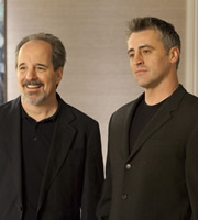 Episodes. Image shows from L to R: Merc Lapidus (John Pankow), Matt LeBlanc (Matt LeBlanc). Copyright: Hat Trick Productions / BBC.