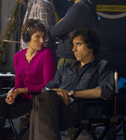 Episodes. Image shows from L to R: Beverly Lincoln (Tamsin Greig), Sean Lincoln (Stephen Mangan). Copyright: Hat Trick Productions / BBC.