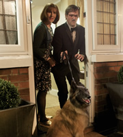 Friday Night Dinner. Image shows from L to R: Jackie (Tamsin Greig), Jim (Mark Heap). Image credit: Popper Pictures.