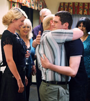 Gavin & Stacey. Image shows from L to R: Dawn (Julia Davis), Pam (Alison Steadman), Pete (Adrian Scarborough), Gavin (Mathew Horne), Nessa (Ruth Jones). Copyright: Baby Cow Productions.