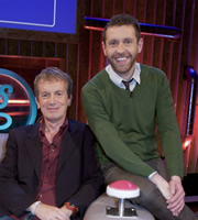 Genius With Dave Gorman. Image shows from L to R: Frank Skinner, Dave Gorman. Copyright: BBC.