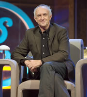 Genius With Dave Gorman. Jonathan Pryce. Image credit: British Broadcasting Corporation.