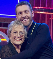 Genius With Dave Gorman. Image shows from L to R: Germaine Greer, Dave Gorman. Image credit: British Broadcasting Corporation.