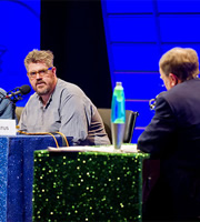 The Guessing Game. Image shows from L to R: Phill Jupitus, Clive Anderson. Copyright: BBC.