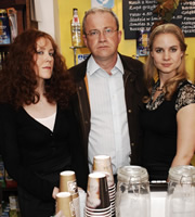 Harry & Paul. Image shows from L to R: Alice Lowe, Harry Enfield, Laura Solon. Copyright: Tiger Aspect Productions.