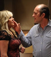 Him & Her. Image shows from L to R: Shelly (Camille Coduri), Nigel (Ralph Brown). Copyright: Big Talk Productions.