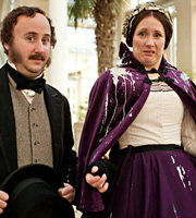 Horrible Histories. Image shows from L to R: Jim Howick, Martha Howe-Douglas. Copyright: Lion Television / Citrus Television.