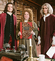 Horrible Histories. Image shows from L to R: Simon Farnaby, Jim Howick, Mathew Baynton. Copyright: Lion Television / Citrus Television.