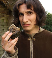 Horrible Histories. Alfred The Great (Tom Rosenthal). Image credit: Lion Television.