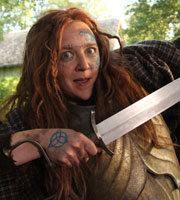 Horrible Histories. Boudica (Lorna Watson). Copyright: Lion Television / Citrus Television.
