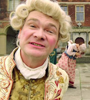 Horrible Histories. George III (Simon Farnaby). Copyright: Lion Television / Citrus Television.